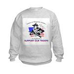 SUPPORT OUR TROOPS Kids Sweatshirt