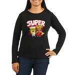 Super Women's Long Sleeve Dark T-Shirt
