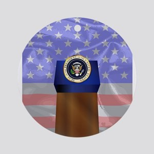 State of the Union Podium Round Ornament