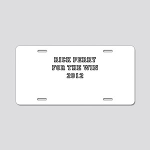 Rick Perry For President 2012 Aluminum License Pla