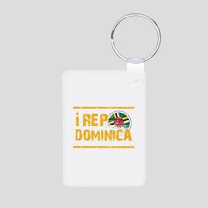 I rep Dominican Aluminum Photo Keychain