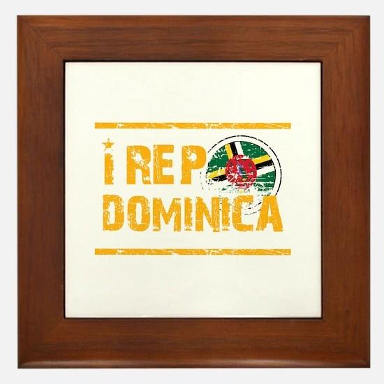 I rep Dominican Framed Tile