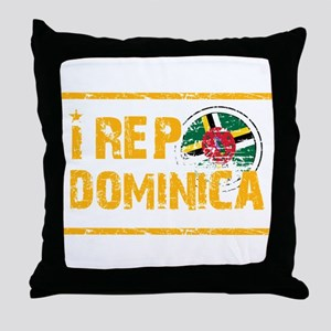 I rep Dominican Throw Pillow