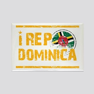 I rep Dominican Rectangle Magnet
