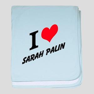 I (heart) Sarah Palin baby blanket