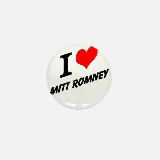 I (heart) Mitt Romney Mini Button