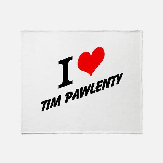 I (heart) Tim Pawlenty Throw Blanket
