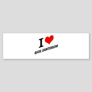 I (heart) Rick Santorum Sticker (Bumper)