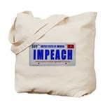 IMPEACH plate 2-sided Tote Bag
