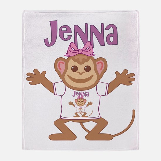 Little Monkey Jenna Throw Blanket