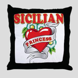 Sicilian Princess Throw Pillow