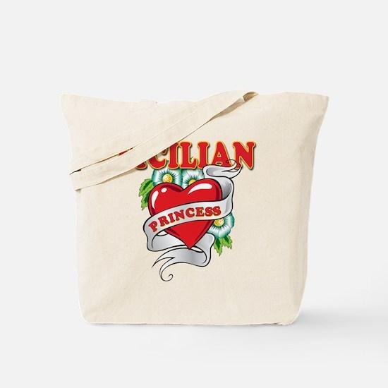 Sicilian Princess Tote Bag