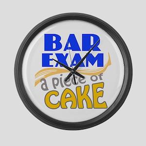Bar Exam - Piece of Cake Large Wall Clock