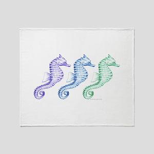 Seahorses Throw Blanket