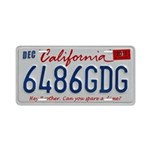 California Plate Aluminum License Plate