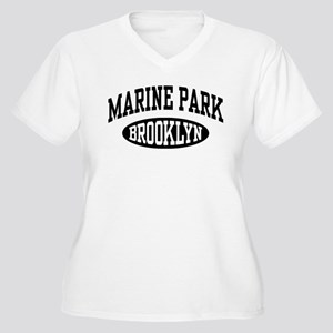 Marine Park Brooklyn Women's Plus Size V-Neck T-Sh