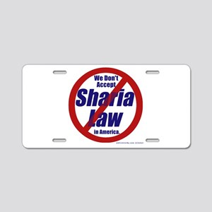 NO Sharia Law in Amer Alum License Plate