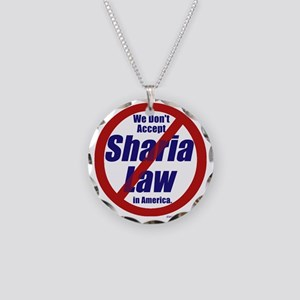 NO Sharia Law in America Necklace Circle Charm
