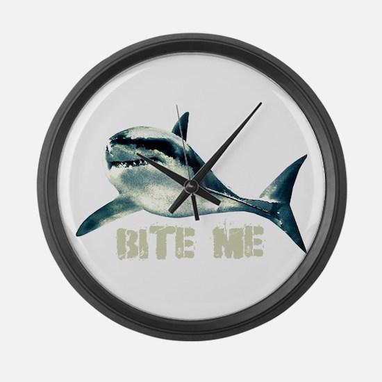 Bite Me Shark Large Wall Clock