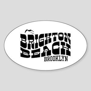 Brighton Beach Brooklyn Sticker (Oval)