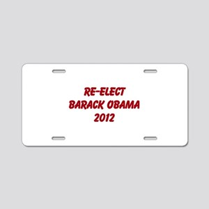 Re-Elect Obama 2012 Aluminum License Plate