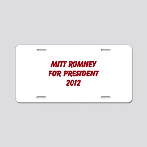 Mitt Romney For President 201 Aluminum License Pla