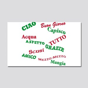 Italian Sayings Car Magnet 20 x 12