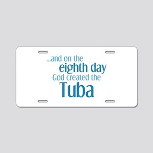 Tuba Creation Aluminum License Plate