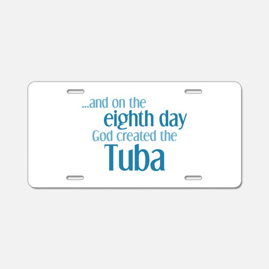 Tuba Creation Aluminum License Plate