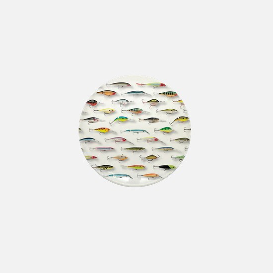 Unique Fisherman Mini Button
