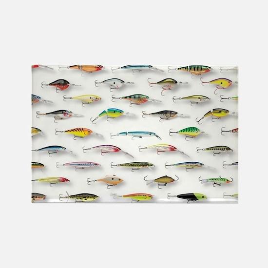 Cute Fishing Rectangle Magnet