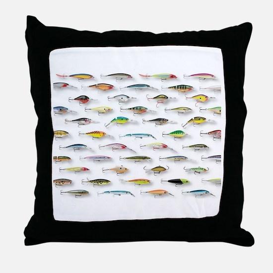 Cute Fishing Throw Pillow