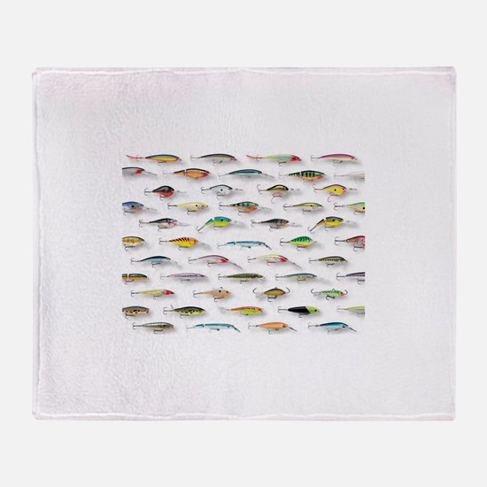 Cool Fly fishing Throw Blanket