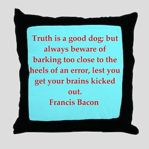 Francis Bacon quotes Throw Pillow
