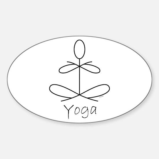 Yoga Glee in White Sticker (Oval)