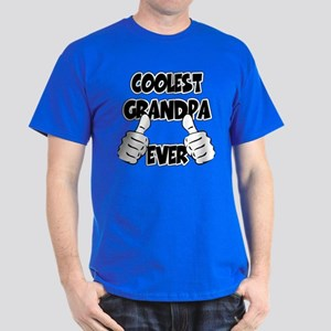 Coolest Grandpa Ever Dark T-Shirt