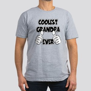 Coolest Grandpa Ever Men's Fitted T-Shirt (dark)