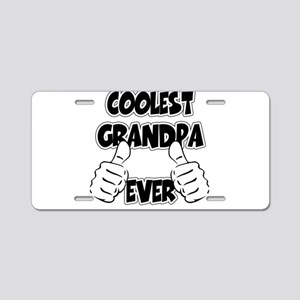 Coolest Grandpa Ever Aluminum License Plate