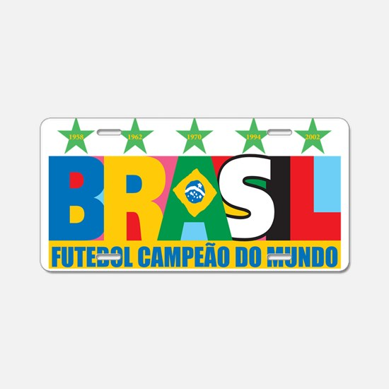 Brazilian World cup soccer Aluminum License Plate