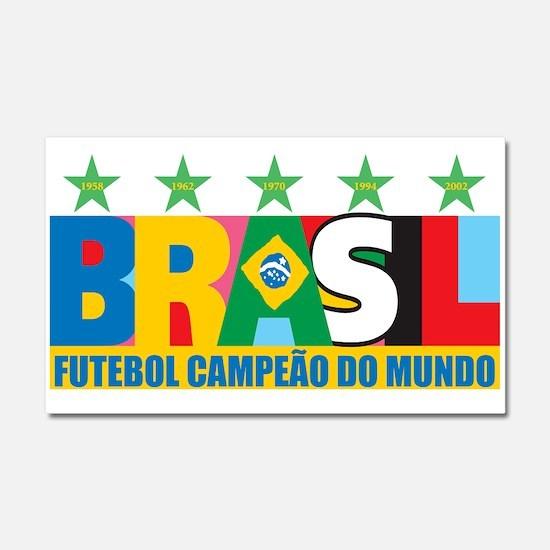 Brazilian World cup soccer Car Magnet 20 x 12