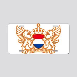 NETHERLANDS SOCCER Aluminum License Plate