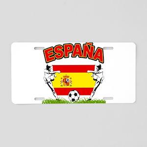 Spainish Soccer Aluminum License Plate