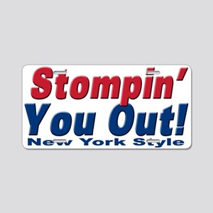 NY GIANTS Stompin you out Aluminum License Plate