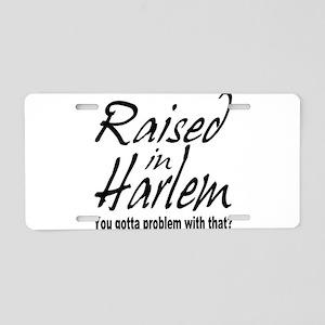 Harlem, new york Aluminum License Plate