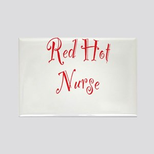 Red Hot Nurse Rectangle Magnet