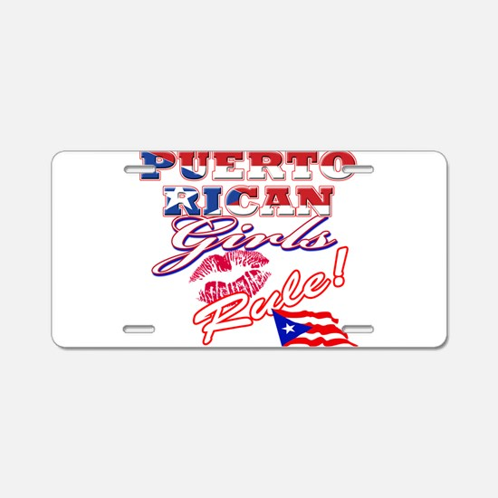 Puerto rican girl Aluminum License Plate