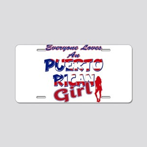 Puerto rican girl Aluminum License Plate