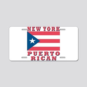 New York Puerto Rican Aluminum License Plate
