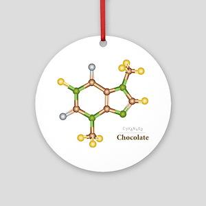 Chocolate Molecule Ornament (Round)