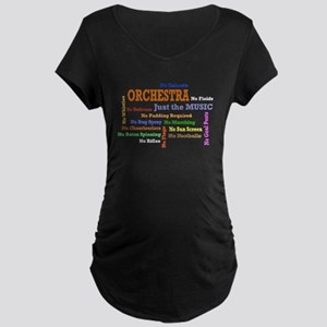 Orchestra-Just the Music Maternity Dark T-Shirt